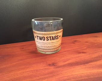HANDCRAFTED Up-Cycled 750ML Buffalo Trace Two Stars Bourbon Whiskey BOTTLE Soy Candle Made To Order !!