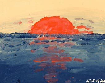 Sunset Over Water - Limited Print