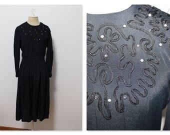 SALE: vintage Karen Stevens Soutache dress