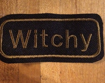 Witchy iron on patch