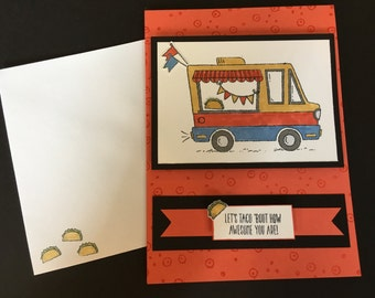 Coral Taco Truck Card