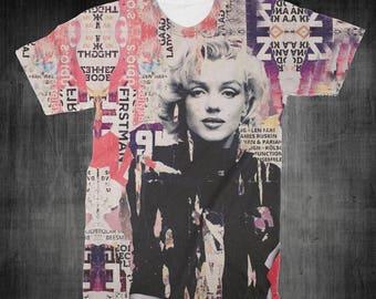 "T-Shirt - ""Marilyn Monroe"" Women - Men - Full Front Polyester Tee Sleeve - FAST SHIPPING"