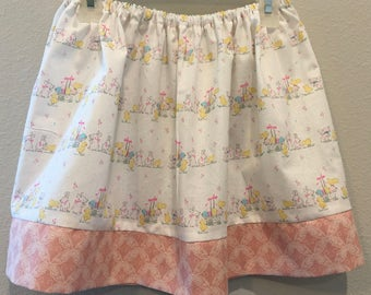 Cute bunny and chick Easter skirt for toddlers and girls
