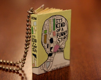 4cm 'Its Kind of a Funny Story' Handmade Miniature Book Replica Necklace