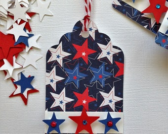 Patriotic gift tags/party favor tags