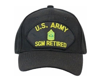 U.S Army SGM RETIRED Military Veteran Emblematic Ball Cap