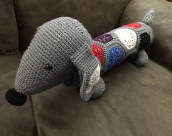 Tippy Dachshund doxie stuffed crochet dog toy