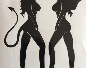 Angel & Devil Vinyl Decal
