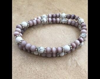 Lavender Double Wrap Bracelet