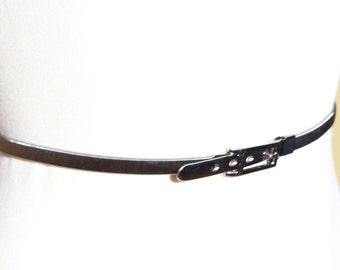 Vintage Women Metal Snake Coil Belt Expandable Flat Style Silver Color  Accessory - Korea
