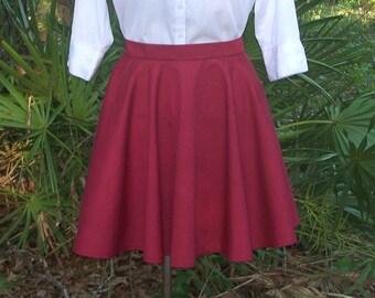 Circle Skirt - Custom Full Circle Skirt Any Size/Any Color - Custom Cosplay Skirt - Skater Skirt - School Uniform Cosplay Skirt