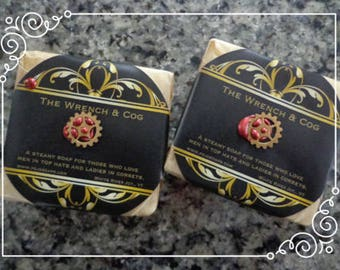The Wrench & Cog 3 oz. steampunk-inspired soap