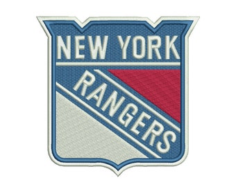 New York Rangers Embroidery Design - 5 SIZES