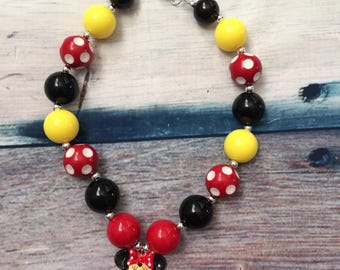 Minnie inspired necklace