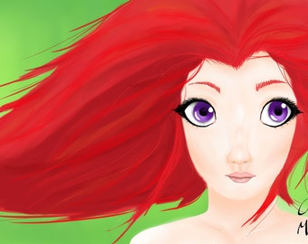 Red - Digital Drawing - A4 - FREE Postage in Australia!!!
