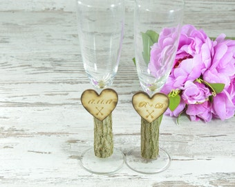 Champagne Glasses, Wedding Toast Glasses, Bride and Groom flutes, Champagne Flutes, Wedding Gift Anniversary, Toast Flutes, Bridal Shower