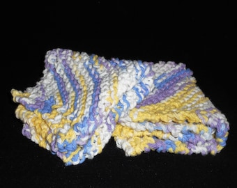 Set of 2 Hand Knit Dish Cloths