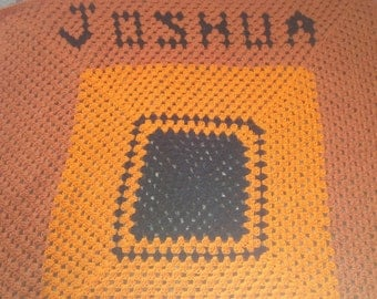 Personalized Crocheted Throw
