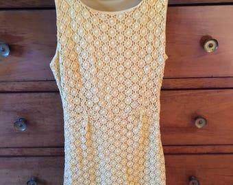Vintage retro style dress size S 70's 80's