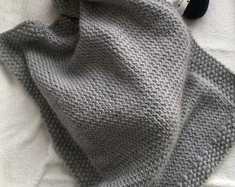 Natural wool baby blanket