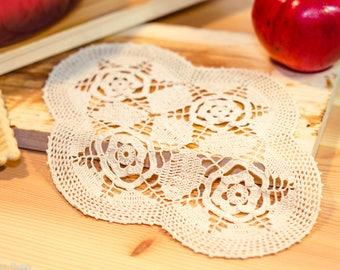 Romantic rose doily