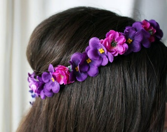 Bridal hair vine, Floral wedding hair vine, Floral hand vine, Bridal Hair, Summer Bride, Floral Hair Accessory