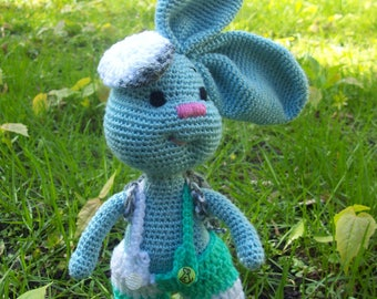 Knitted Toy Rabbit-Tourist