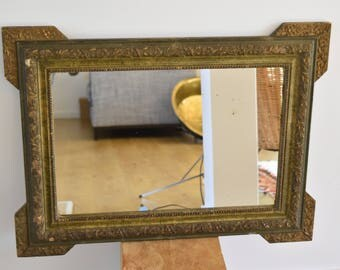 Gold patinated mirror 19 eme
