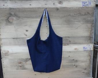 Jeans shopper, denim tote bag, shopping bag, shoulder bag, jeans Upcycling bag, shopping bag