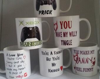 Personalised valentine mugs