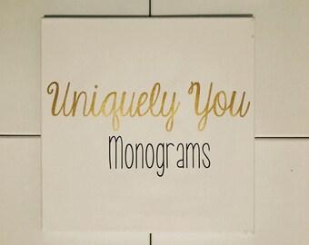 Monogrammed Canvas