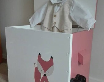 """Chest / Trunk """"Mukula"""" for toys, clothes and other storage Fox 50x43x28"""