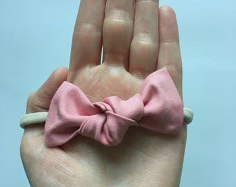 knotted fabric bow