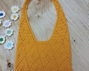 Hand-crocheted bag, summer bag, crochet bag, cotton bag.