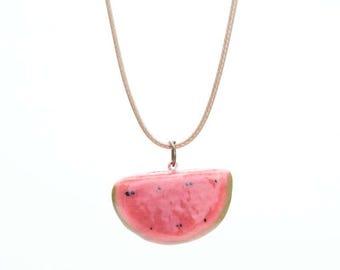Ceramic Watermelon Necklace