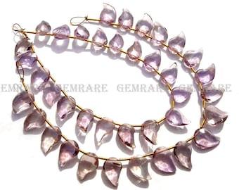Ametrine Faceted Mango, 8.50x11 to 8.50x13 mm, 18 cm, Quality A, 19 pieces, AMETRI-104/1, Semiprecious Gemstone beads, Craft Supplies