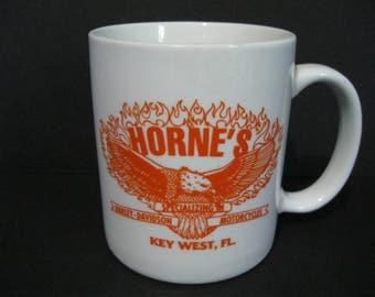 Harley-Davidson Coffee Mug, Key West Harley Mug, Vintage Motorcyle Mug