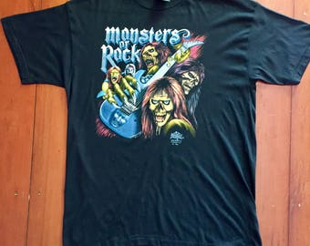 Monsters of Rock Vintage Rock Band t shirt