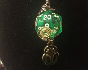 Beetle D20 Necklace