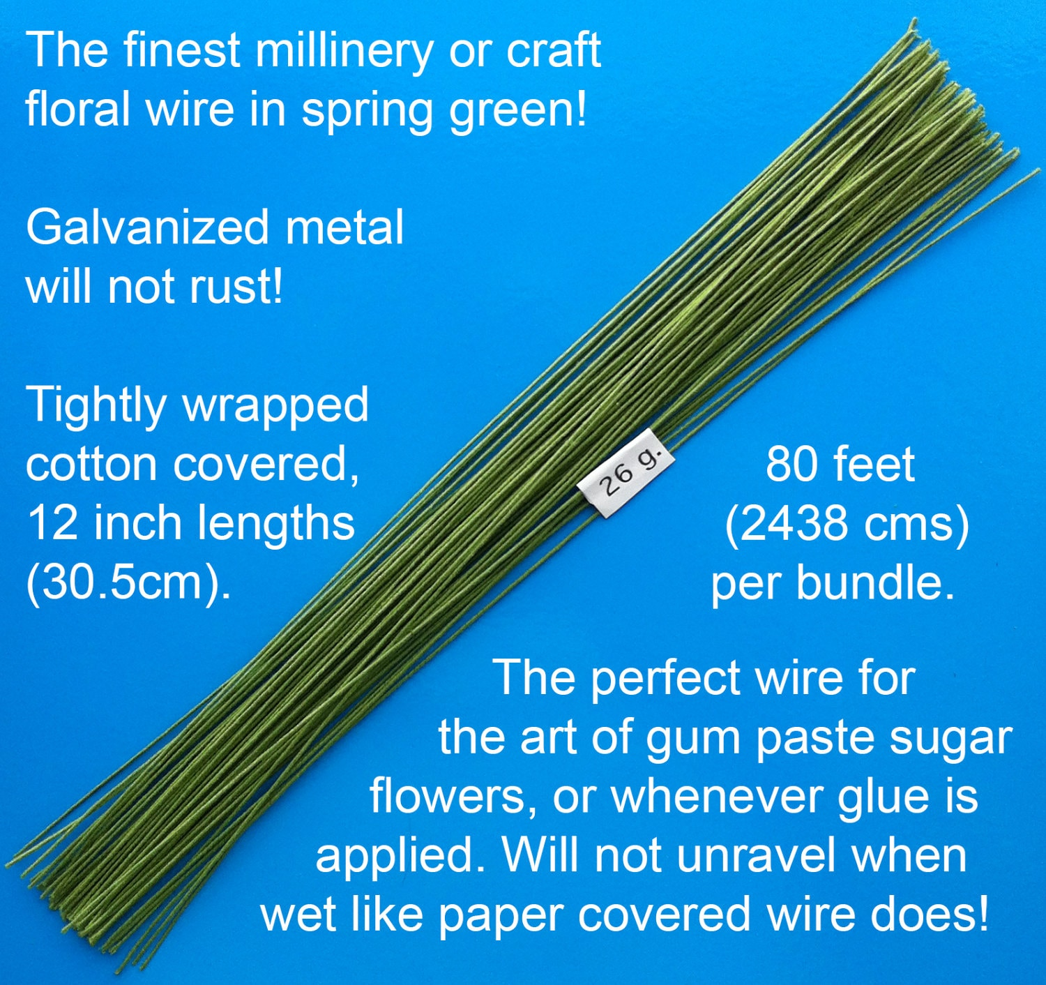 Paper covered craft wire - Sold By Worldofsugarart
