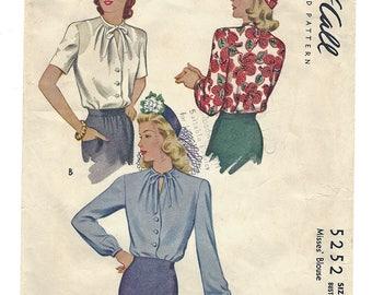 PWAP-0148 Vintage McCall Pattern 5252  S16