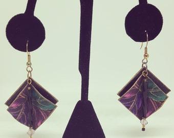 Painted paper earrings