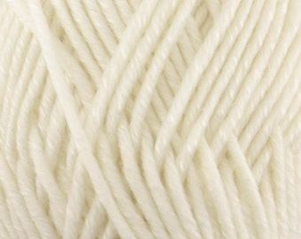 Chunky Melody White Wool Yarn Bulky 100g/skein