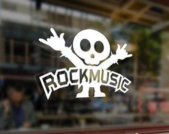Rock music Heavy Metal Art Vinyl Stickers Funny Decals Bumper Car Auto Computer Laptop Wall Window Glass Skateboard Snowboard Room Tuning