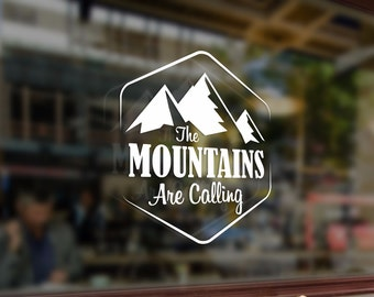 The MOUNTAINS Are Calling Climbing Vinyl Stickers Funny Decals Bumper Car Auto Laptop Wall Window Glass Skateboard Snowboard Helmet