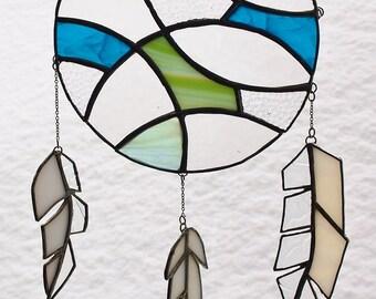 Stained Glass Suncatcher Mystic Dreamcatcher