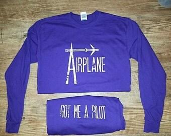 Airplane Purple Long Sleeve Widespread Panic Lot Shirt