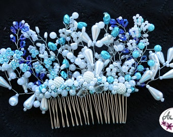 Wedding comb made of beads
