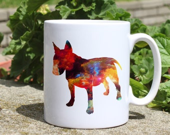 Bull Terrier mug - Dog mug - Colorful printed mug - Tee mug - Coffee Mug - Gift Idea