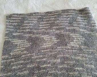Khaki and Silver Baby Blanket